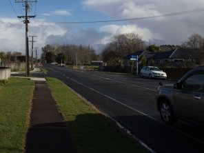 Tauwhare Rd with new footpath